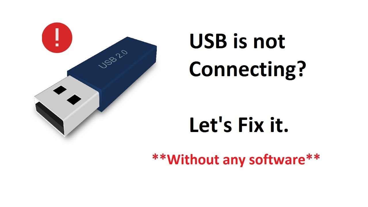 How to fix usb not showing up , Easy method to show usb not recognized  connecting detected to pc
