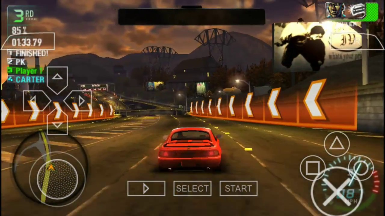 Need For Speed Carbon Own The City Gameplay Psp Iso Ppsspp