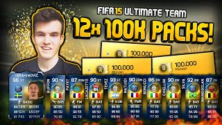 FIFA 15 - Holy Shit! 12x 100k PACKS!! 10x TOTS IN PACKS! - [Facecam] #22