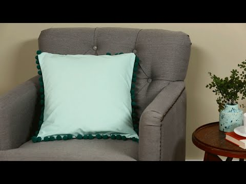 EasySew Pillow With PomPom Trim YouTube Extraordinary How To Sew A Pillow Cover With Trim