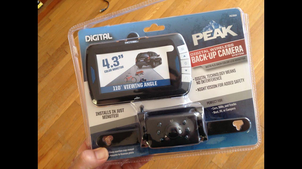 Peak Wireless Back-up Camera - YouTube