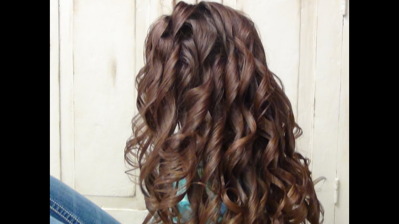How to Curl Long Hair with a Curling Iron | Hairstyles ...
