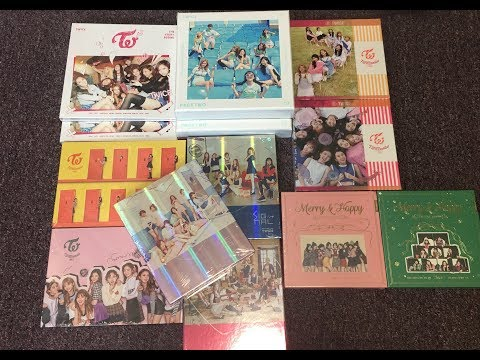Unboxing TWICE Old Albums * 13 (1st 2nd 3rd 4th Mini Album + Knock Knock + Merry & Happy)