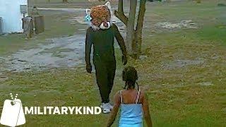 Fortnite dancer surprises kids in backyard | Militarykind