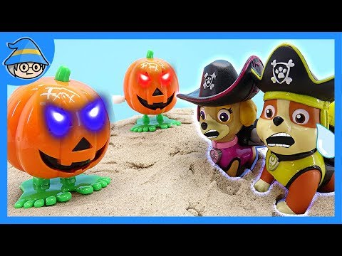 Paw Patrol Halloween pumpkin ghost has appeared! Go adventure as a pirate?