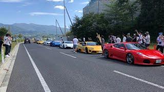 突然現れたスーパーカー集団  Super car sound. in Japan
