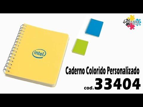Caderno Colorido 33404 Personalizado - Criative Brindes