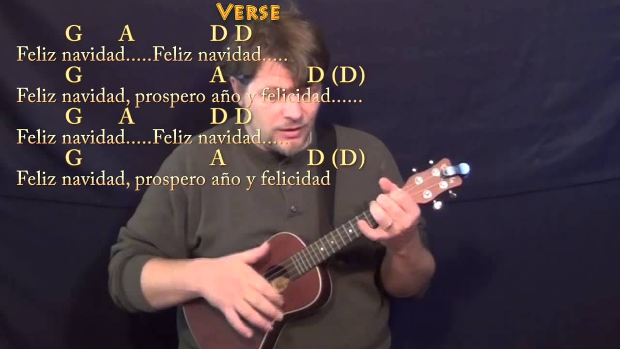 Feliz Navidad Ukulele Cover Lesson With Chords And Lyrics G A D