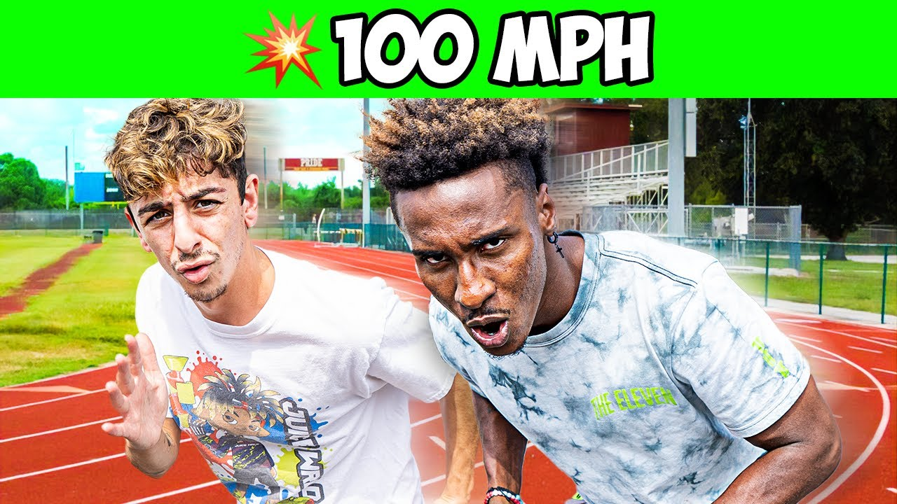 Racing the Worlds Fastest Athlete! (ft. Deestroying)