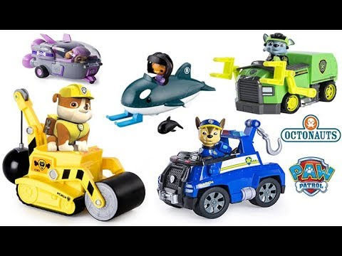 PAW PATROL CHASE'S TOW TRUCK, RUBBLE'S STEAM ROLLER, ROCKY'S CITY HALL RESCUE, PUP TO HERO PLAYSET