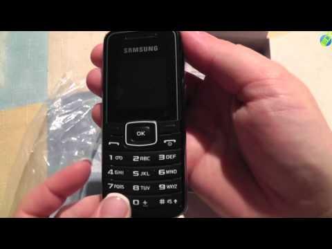 unboxing pl SAMSUNG E1050 Black rozpakowanie po polsku