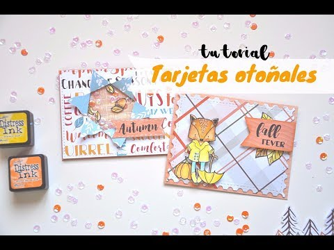 Tutorial tarjetas otoñales | Shaker card tutorial | Document Life Stories | Scrapeando con Rocío