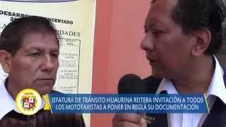 09 15 DISTRITO DE HUAURA jefatura de transito anuncia operativos semanales