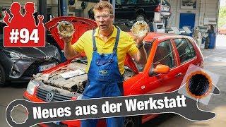 Heißer Polo-Motor lässt Ausgleichsbehälter schmelzen & Fahrradflicken auf VW-Bus-Reifen