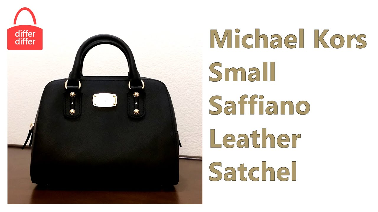 0f6fe0ec3bc7 Michael Kors Small Saffiano Leather Satchel 35S3GSAS1L - YouTube