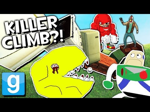 THE KILLER CLIMB?! | Garrys Mod EPIC Mini-Game Challenge (Getting Over It in Gmod)
