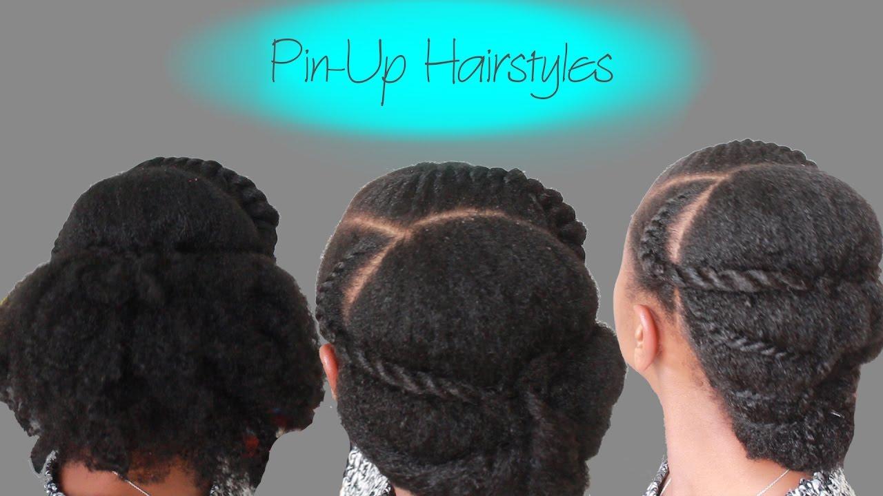 3 Pin Up Hairstyles For Medium Length Natural Hair
