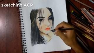 DIBUJANDO A KIMBERLY LOAIZA • SKETCHING ACP • SPEED DRAWING