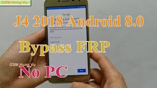 Samsung j4 j400f android 80 frp bypass google account bypass without