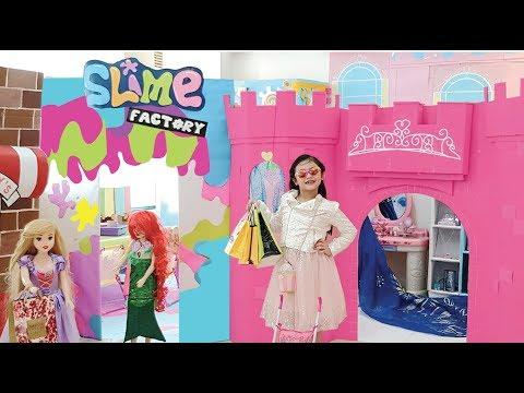 Bug Barbie Malibu Mall and Slime Shop Pretend Play !