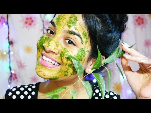 How to Get Rid Of Acne & Pimples Naturally & Fast (100% Results) || Neem Face Pack || Nilanjana Dhar