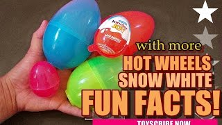 Surprise Plus Fun Facts! Kinder Joy Surprise Eggs | Hot Wheels Matchbox & Snow White Facts   By Skd