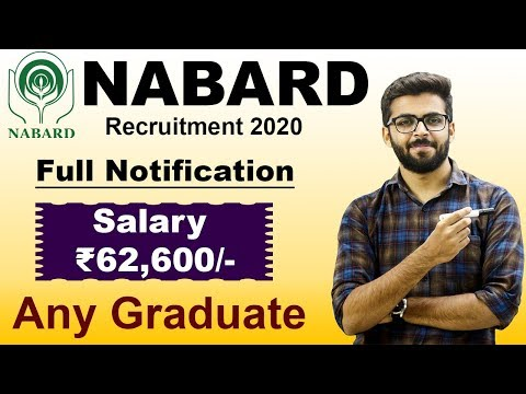 NABARD Recruitment 2020 Assistant Manager GRADE A | Salary ₹62,600 | Any Graduate | Latest Jobs