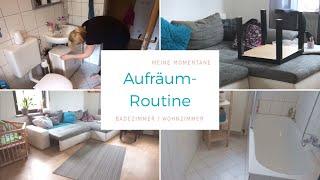 PUTZROUTINE   Wohnzimmer 🛋   Badezimmer 🛁