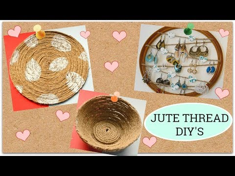 3 Easy Jute thread DIY I Rope crafts I Jute decor at home I