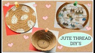 3 Easy Jute thread DIY I Rope crafts I Jute decor at home I Ankinish creations
