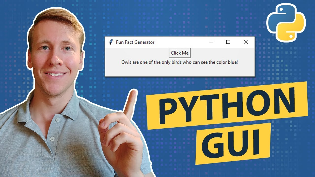 How To Create A GUI Program In Python Using Tkinter (EASY) | Fun Fact Generator