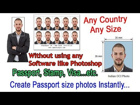 Create your own passport size photo online for free! without using Photoshop | Santosh Chaurasiya