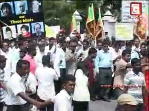 (SI)Sri Lanka Protests Outside UN Office Colombo - Agaisnt Illegal UN Panel -6July 2010