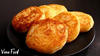 Картофельные оладьи с сыром | Пышные, нежные и очень вкусные!