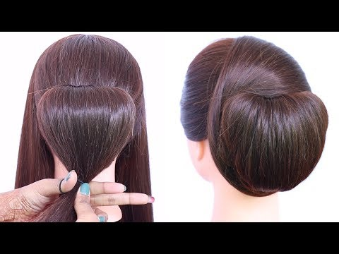 Chignon Hairstyle Trick With Using Clutcher Elegant Updo