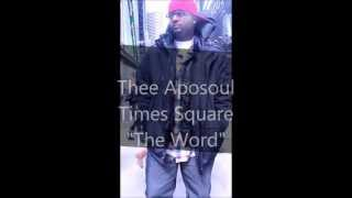 "Thee Aposoul (@THEEAPOSOUL) ""THE WORD"" Acapella in Times Square"