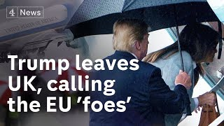 Trumps UK visit ends in controversy ahead of Putin meeting
