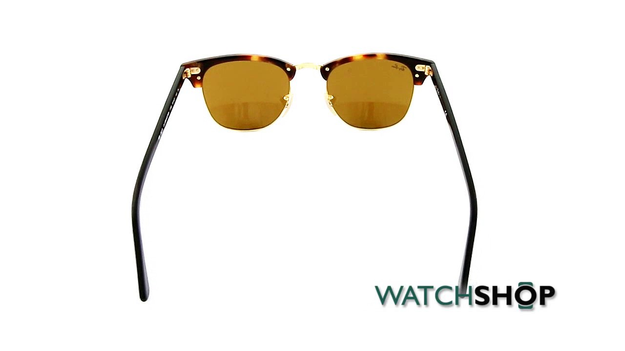ccbd5f589eb6e Ray-Ban Men s Clubmaster Fleck Sunglasses (RB3016-1160-51) - YouTube