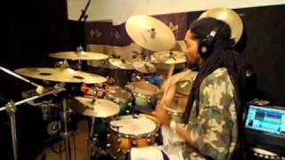 "Drum Cover : ""Minna No Peace"" By Afromania (HQ)"