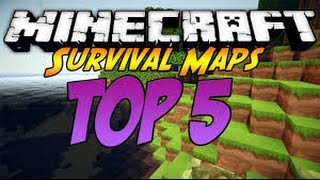 TOP 5 MAPAS DE SUPERVIVENCIA DE MINECRAFT