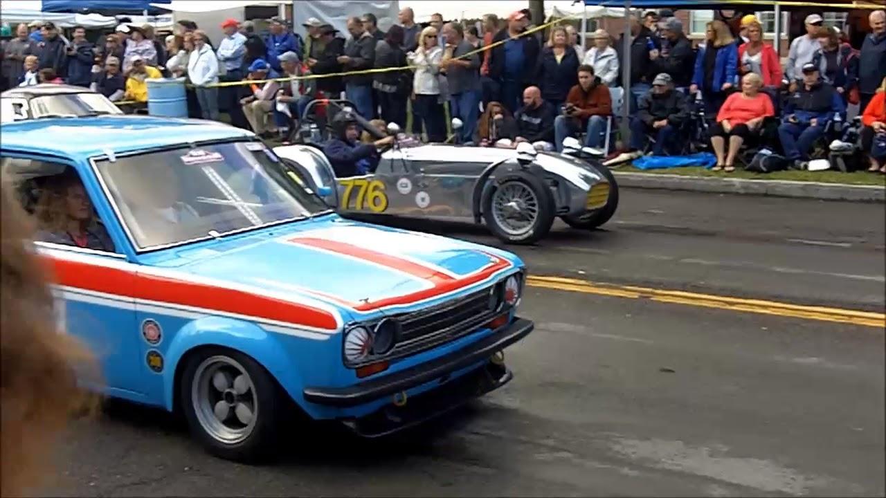 2017 U.S. Vintage Grand Prix car show--evening cruise - YouTube