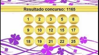 sorteio resultado lotofacil 1165 Palpite 1166