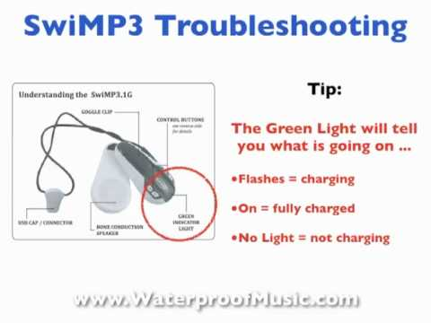 Swimp3 Troubleshooting Your Waterproof MP3 Player