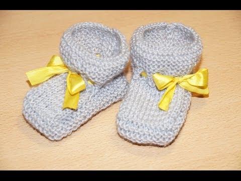 схема вязания пинеток спицами Scheme Knitting Bootees Spokes