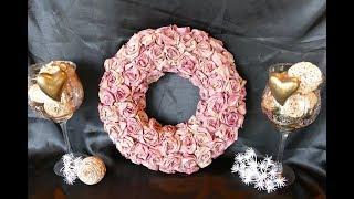 DIY: Kranz basteln – Rosenblüten aus Filtertüten – rose petals - Делать розы