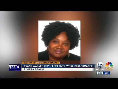 Jonathan Evans warned city clerk over work performance