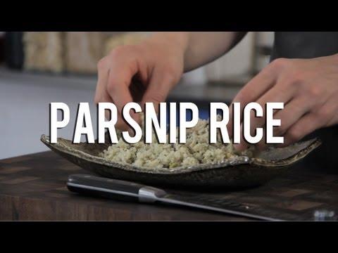 "Raw food parsnip ""rice"" recipe"