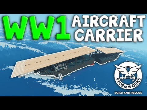 MULTIPLAYER CARRIER LANDING CRASH!  -  Stormworks: Build And Rescue