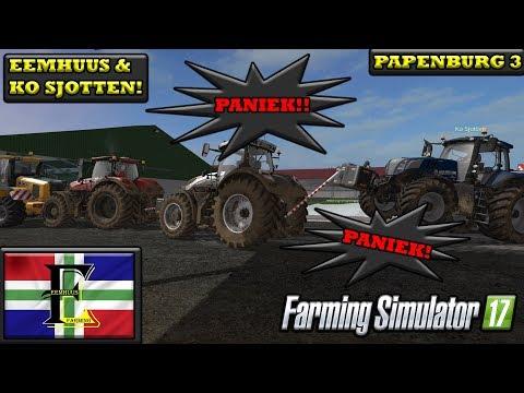 Farming simulator 2017 Nederlands Papenburg 3 PANIEK!! Eemhuus en Ko Sjotten!