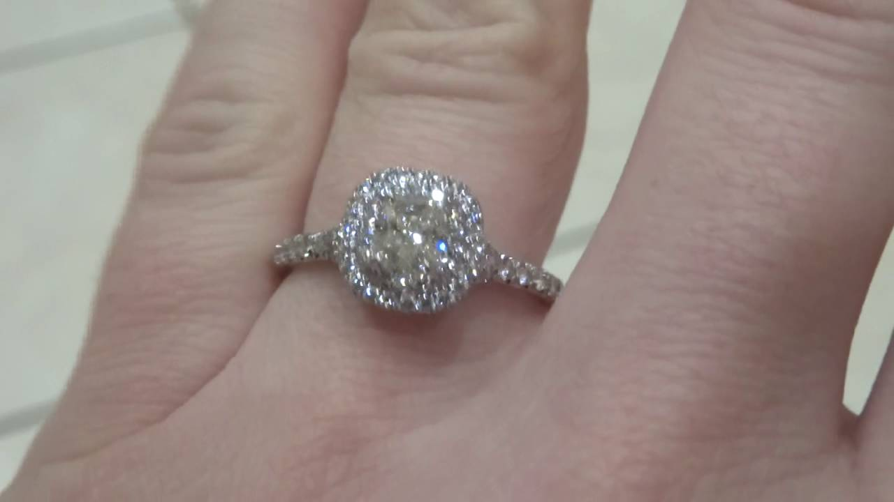 32f0f41cacc Tiffany Soleste Engagement Ring (Indoor lighting) - YouTube